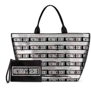 Victoria's Secret  Tote & Mini Sequin Bag